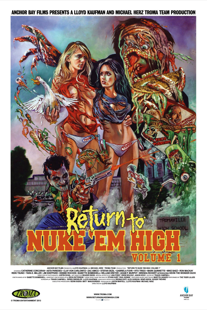 """OFFICIAL TRAILER HERE Comedy-Erotic-Horror   95 min.   USA   2015 """"Return  to Nuke 'Em High Vol. 1"""", produced in association with STARZ, premiered in  The ..."""