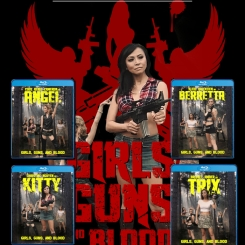 GIRLS GUNS AND BLOOD [Character Blu-Ray w/ Limited Slipcover] $28.99