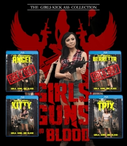 GIRLS GUNS AND BLOOD [Character Blu-Ray w/ Limited Slipcover] $28.99 -- SOLD OUT!!